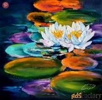 картина с лилиями нимфея