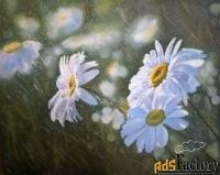картина с цветами «летний дождь»