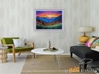 пейзаж с горами «горный рассвет»