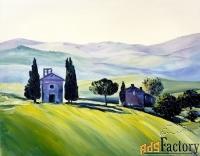картина маслом на холсте итальянский пейзаж