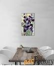 натюрморт маслом с цветами ирисы.