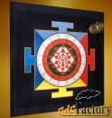 картина для медитации и защиты - янтра. 82x82 см