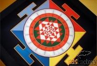 картина для медитации и защиты - янтра. 50x50 см