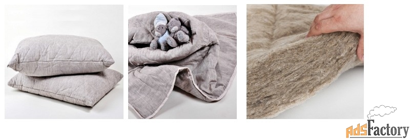 наполнитель одеял и подушек из льна