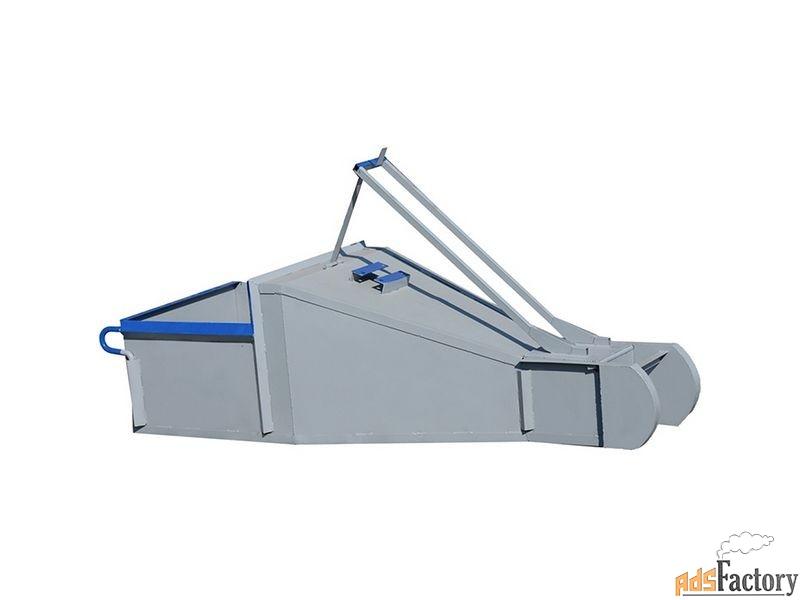 бадья для бетона «туфелька» рычажный привод, одночелюстной затвор 0.5