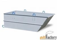 бадья для бетона «рюмка» усиленная бн-0.5/2.0мм агрегатстрой(ас)