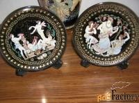 комплект: ваза и 2 тарелки еврокерамика греция 18