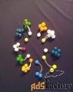 декоративные резинки с шариками, бусинами для воло