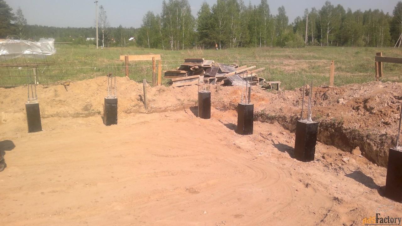 столбчатый фундамент в рыбинске и рыбинском районе.