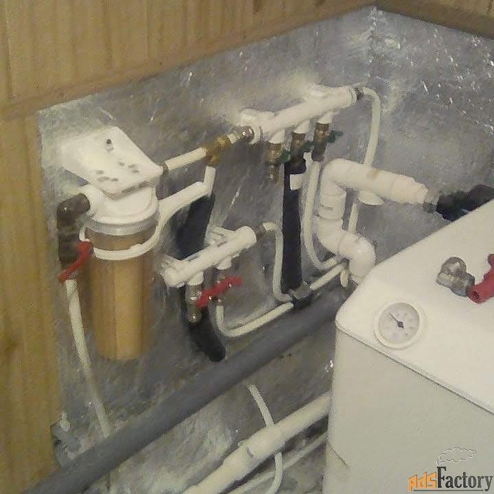 Установка сантехники Монтаж отопления.