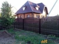 забор для дома, м-образный штакетник.