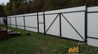 забор из профнастила