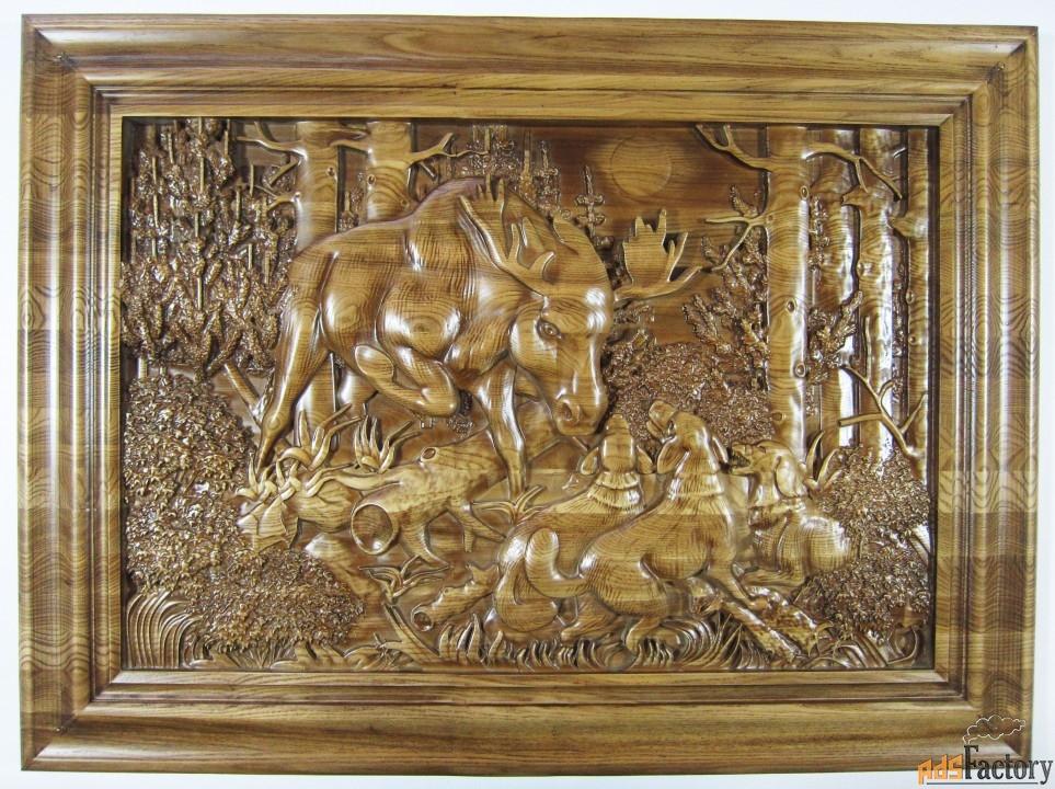 картина «охота на лося»