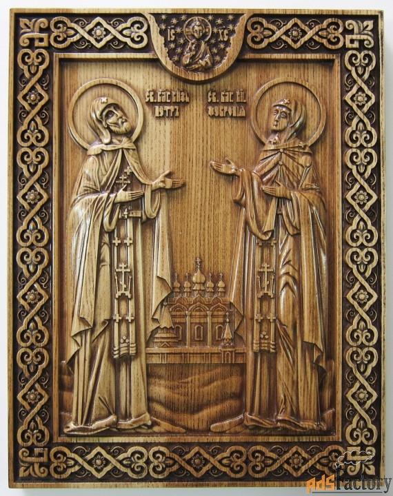 икона «святые петр и февронья» 240х190