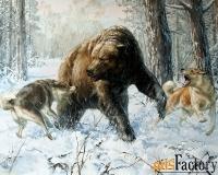 картина «охота на медведя»