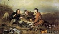 картина «охотники на привале»
