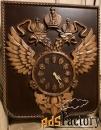 картина герб рф с часами