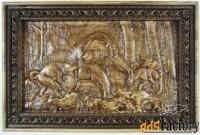 картина «охота на медведя» 640х420
