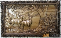 картина панно «олени у дерева»
