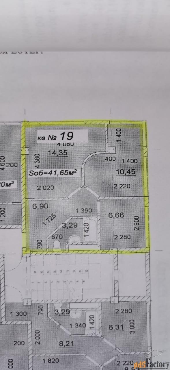 2 - комн.  квартира, 49 м², 3/5 эт.