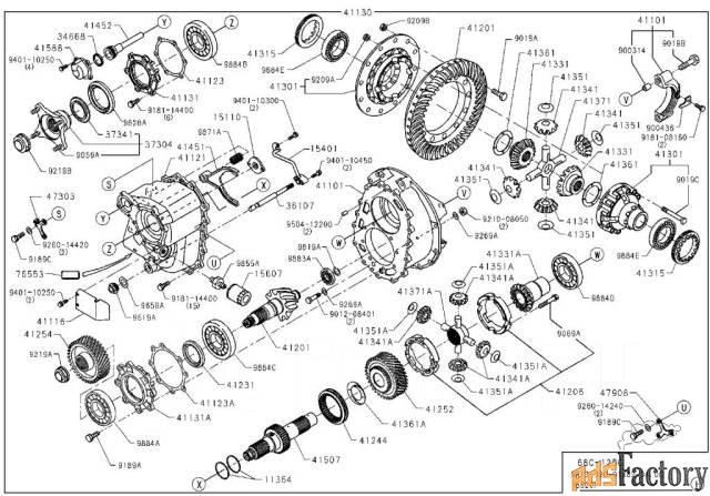 шестерня редуктора hino s4125-41090