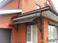 крыши и козырьки из сотового поликарбоната
