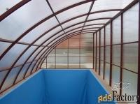 навес над бассейном из поликарбоната