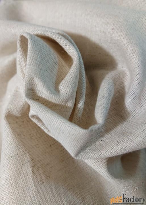 Льняная ткань полуварёная 220 см.