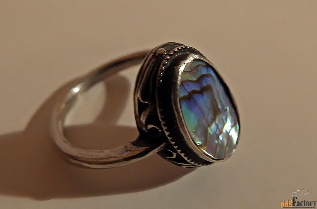 перстень, кольцо. мельхиор. вставка австралийский перламутр