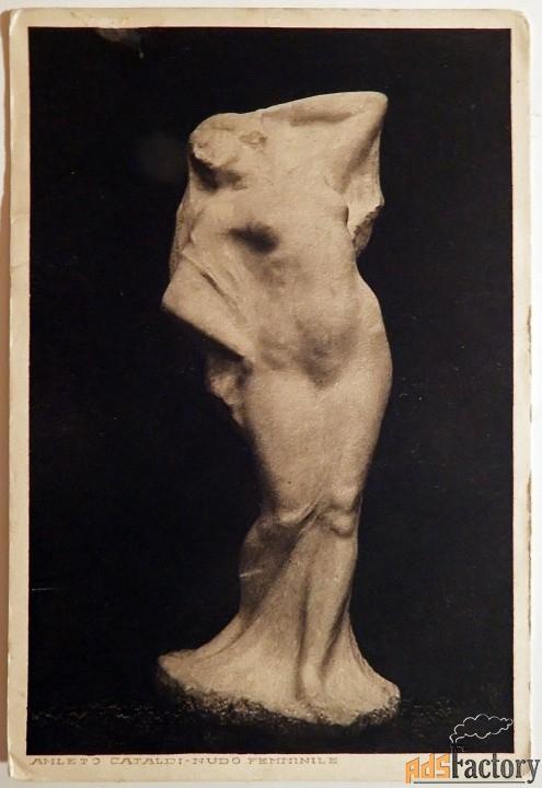 антикварная открытка г. катальди обнаженная женщина