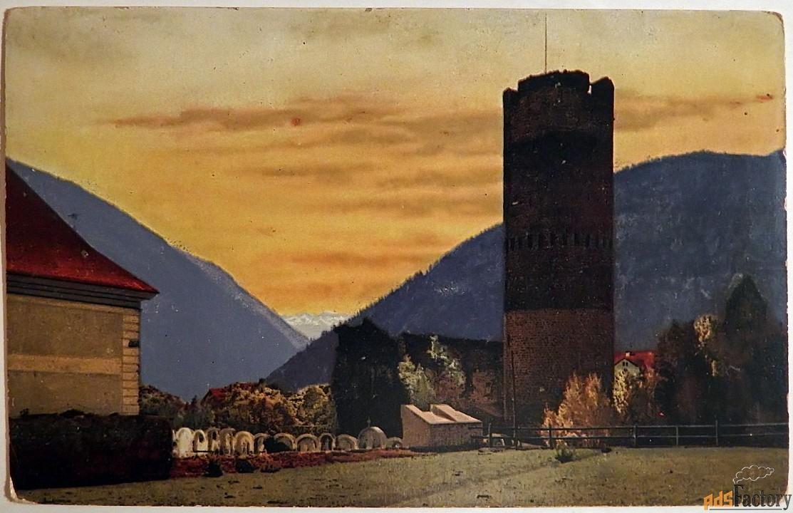 антикварная открытка осень в южном тироле