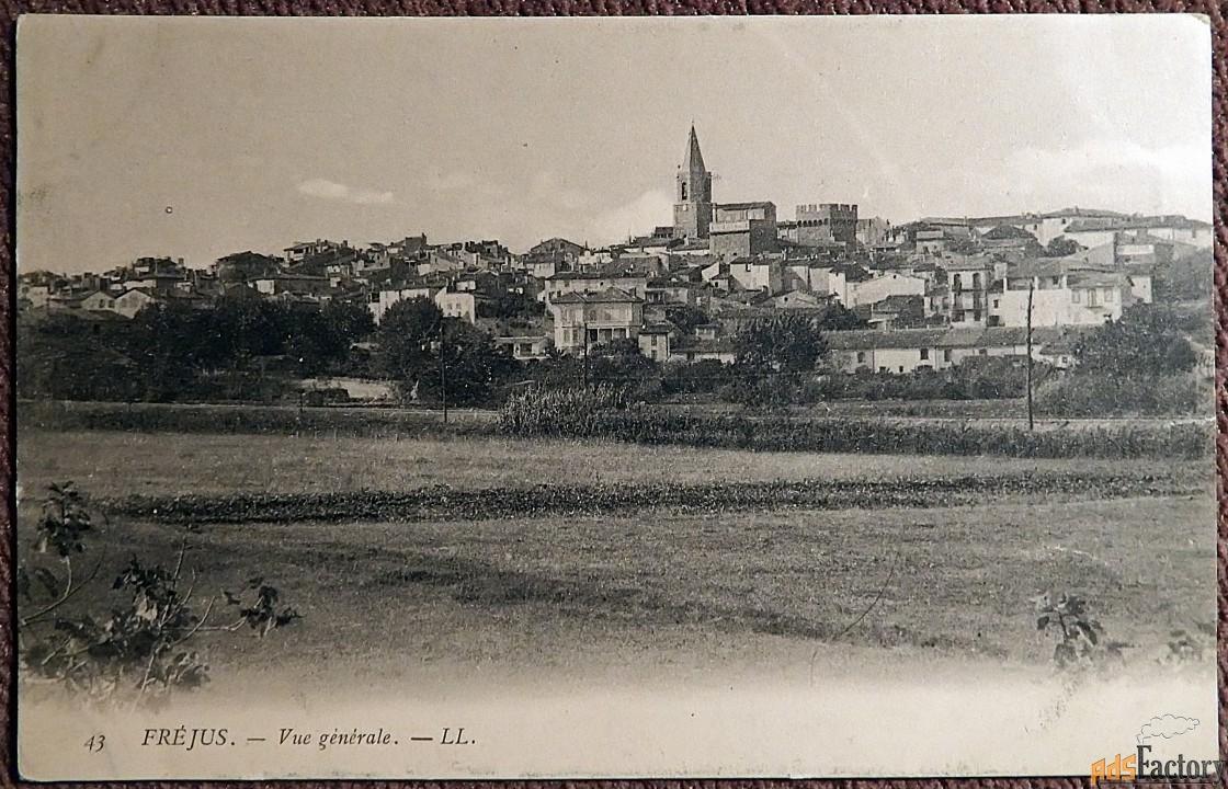 антикварная открытка фрежюс. общий вид (франция)