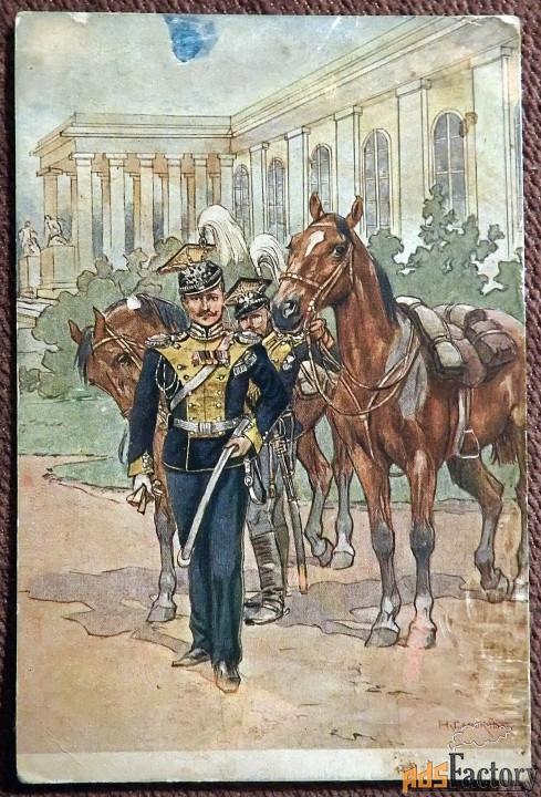 Антикварная открытка «Унтер офицер 13-го Владимирского полка»