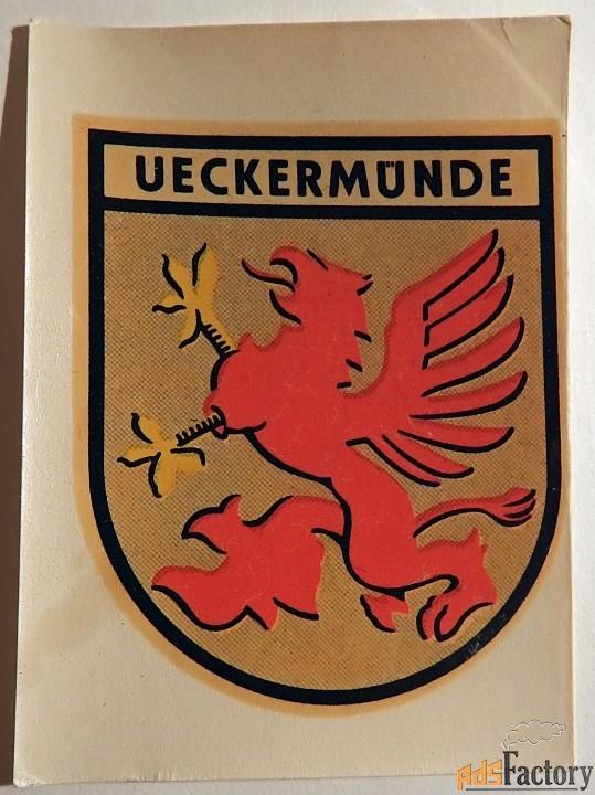Переводная картинка. Иккермюнде. ГДР. 1967 год