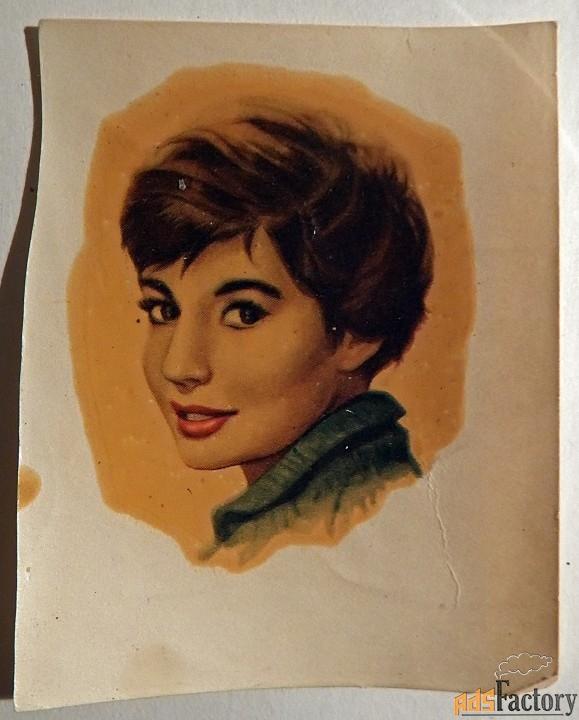 Переводная картинка. Девушка. ГДР. 1960-е годы