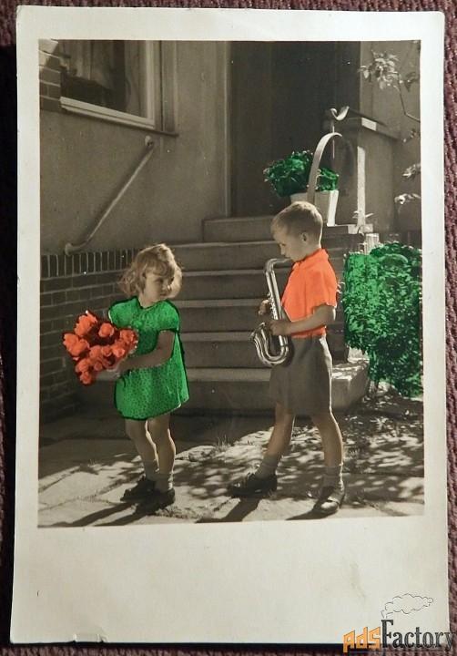 Открытка Дети. 1930-е годы