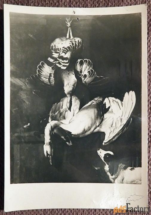 Открытка. М. Блум Охотничьи трофеи. 1950-е годы