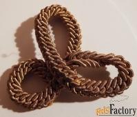 антикварная пришивная фурнитура из металлизированного шнура