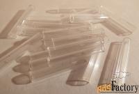 антикварный стеклярус. прозрачный (3 см)