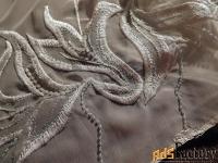 шарф - палантин. индивидуальный заказ. вышивка. 1990 - е годы