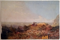 антикварная открытка. к. шпицвег на лоне природы