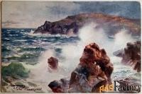 антикварная открытка мыс ньюки. великобритания