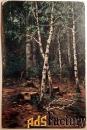 антикварная открытка лесной пейзаж