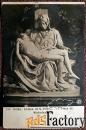 антикварная открытка. микеланджело оплакивание христа