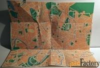 схематический план москва. центральная часть. 1974 год
