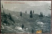 антикварная открытка кампен. у подножия горы (швейцария)