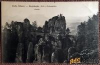 антикварная открытка «бастейский мост. скала фердинанда» (германия)