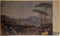 открытка. худ. иванов пейзаж (неаполь). 1920-е годы