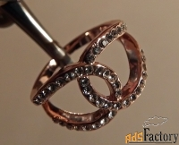 кольцо со стразами