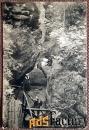 антикварная открытка «сакс. швейц. маршрут через каньон дьявола». герм